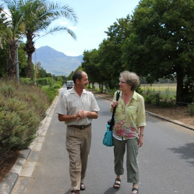 Dagmar Schmidt with Jaco le Roux, prison warden for 28 years