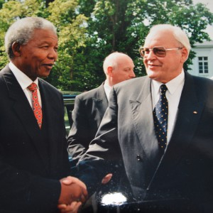 May 1996: Nelson Mandela with Roman Herzog