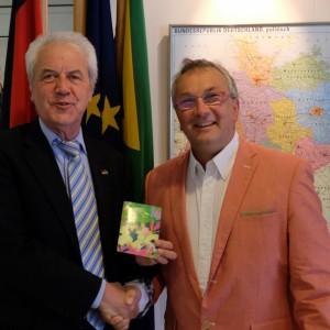 Consul General Dr. Bernd Rinnert and Ulrich Reimann